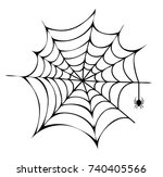 spider building his net icon...   Shutterstock .eps vector #740405566