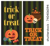 trick or treat halloween... | Shutterstock .eps vector #740406094