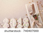 new year eve 2018  christmas... | Shutterstock . vector #740407000