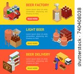 equipment and beer production... | Shutterstock .eps vector #740408038