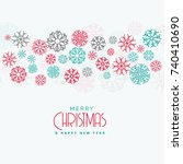 elegant christmas background... | Shutterstock .eps vector #740410690