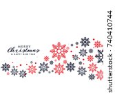stylish snowflakes background... | Shutterstock .eps vector #740410744