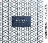 abstract line pattern vector... | Shutterstock .eps vector #740413576