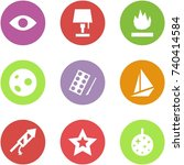 origami corner style icon set   ... | Shutterstock .eps vector #740414584