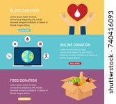 donation vector concept... | Shutterstock .eps vector #740416093