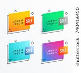 geometric sale banner template... | Shutterstock .eps vector #740416450