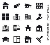 16 vector icon set   home ... | Shutterstock .eps vector #740419618