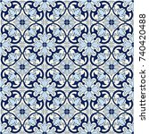 gorgeous seamless pattern white ... | Shutterstock .eps vector #740420488