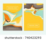 abstract fluid colors... | Shutterstock .eps vector #740423293