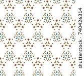 vector illustration of seamless ... | Shutterstock .eps vector #740426314