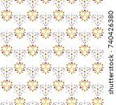 vector illustration of seamless ... | Shutterstock .eps vector #740426380
