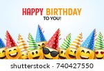 birthday happy smile greeting... | Shutterstock .eps vector #740427550