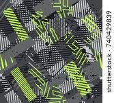 abstract vector seamless... | Shutterstock .eps vector #740429839