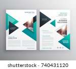 geometric triangles business... | Shutterstock .eps vector #740431120