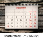 december 25 in the calendar on... | Shutterstock . vector #740432854