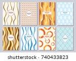 set of poster  flyer  posters ...   Shutterstock .eps vector #740433823