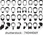 illustration with men beard... | Shutterstock .eps vector #74044069