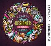 cartoon vector doodles design...   Shutterstock .eps vector #740441596