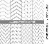 vector abstract geometric... | Shutterstock .eps vector #740442250