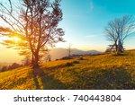 the mountain autumn landscape...   Shutterstock . vector #740443804