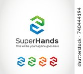 this is a s letter logo used... | Shutterstock .eps vector #740444194