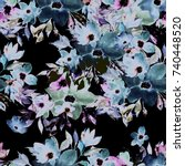 watercolor seamless pattern....   Shutterstock . vector #740448520