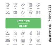 line sport icons set. hockey...