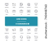 line icons set. e commerce 1...