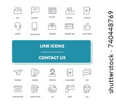 line icons set. contact us pack....