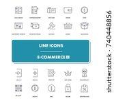 line icons set. e commerce 3...