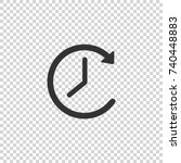 clock icon. clock vector icon.... | Shutterstock .eps vector #740448883