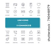 line icons set. e commerce 2...