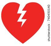 broken heart icon | Shutterstock .eps vector #740450140