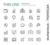 collection of business thin... | Shutterstock .eps vector #740450164