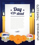day of the dead letter altar... | Shutterstock .eps vector #740451370