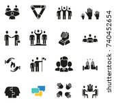 vector set of icons related to... | Shutterstock .eps vector #740452654