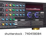 audio equalizer controller  ... | Shutterstock . vector #740458084