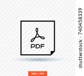 pdf file line vector icon | Shutterstock .eps vector #740458339