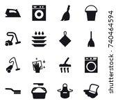 16 vector icon set   iron ... | Shutterstock .eps vector #740464594