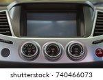screen multimedia system in a... | Shutterstock . vector #740466073