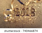happy new year 2018.  | Shutterstock . vector #740466874