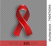 1st december world aids day... | Shutterstock .eps vector #740474344