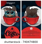 coffee package design with an... | Shutterstock .eps vector #740474800