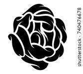 flower rose  black and white.... | Shutterstock .eps vector #740476678