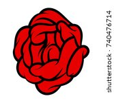 red rose isolated on white... | Shutterstock .eps vector #740476714