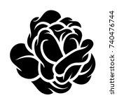 flower rose  black and white.... | Shutterstock .eps vector #740476744