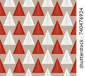 seamless pattern with geometric ...   Shutterstock .eps vector #740476924