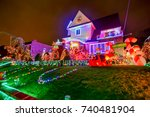 new york  united states  ... | Shutterstock . vector #740481904