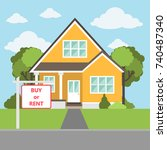 buy or rent the house. real... | Shutterstock .eps vector #740487340