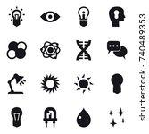 16 vector icon set   bulb  eye  ... | Shutterstock .eps vector #740489353